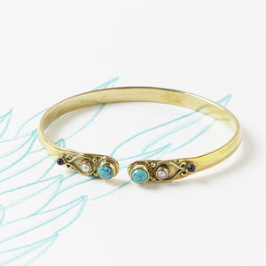 Turquoise Bangle - modern-boho