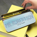 Teacher's Gift Stripy Letter Personalised Pencil Case
