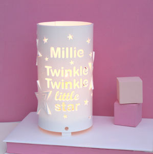 Personalised Twinkle Twinkle Little Star Night Light