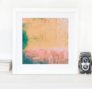 New York Red, Blue Gold And Green Home Fine Art Print
