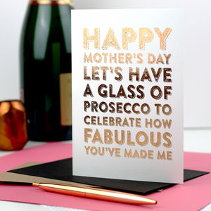 Happy Mother's Day Let's Celebrate Foiled Card - winter sale