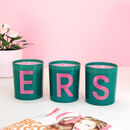 Green And Pink Letter Candle