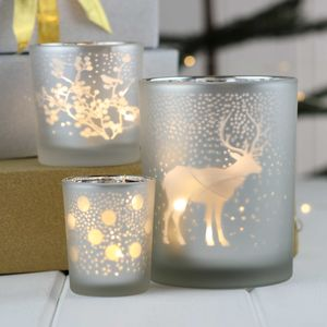 Handmade Silver Christmas Tea Light Holders - votives & tea light holders