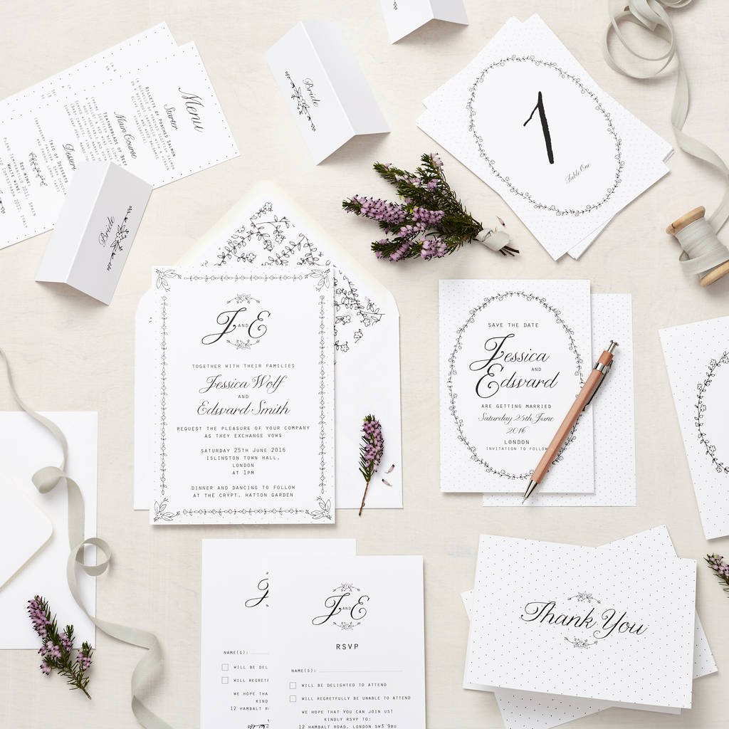 daisy chain wedding stationery sample pack by lucy says i do ...
