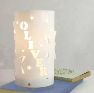 Personalised Mixed Stars Night Light - children's room