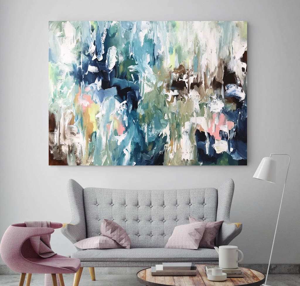 Original Abstract Painting On Canvas Large Wall Art