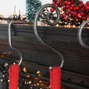 Forged Iron Christmas Stocking Spiral Hook
