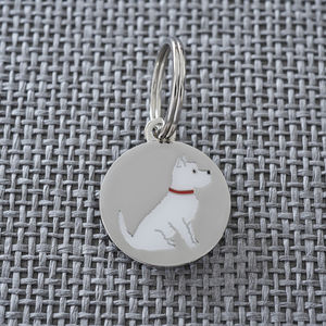 Westie Dog ID Name Tag - pet tags & charms