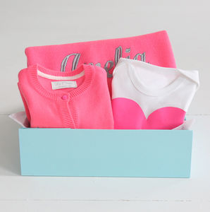 Personalised Neon Gift Set Pink - gift sets