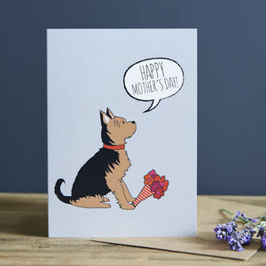 Yorkshire Terrier Mother's Day Card
