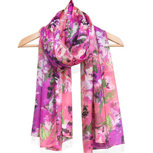 Large 'Bellini' Pure Silk Scarf