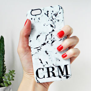 Marbled Personalised Phone Case - womens