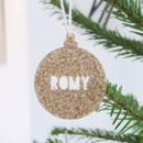 Personalised Metallic Christmas Bauble Decoration