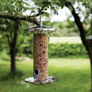 Stainless Steel Bird Feeder - bird feeders