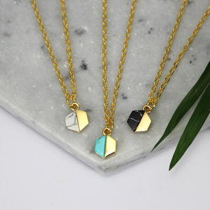 Children's Mini Hexagon And Stone Charm Necklace - new in wedding styling