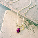 Garnet Quartz January Birthstone Necklace