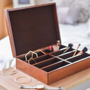 Personalised Ladies Leather Storage Box