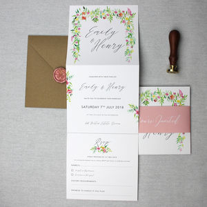 Floral Botanical Wedding Invitation Suite - invitations