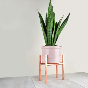 Copper Plant Stand Rectangle Base - 30th birthday gifts