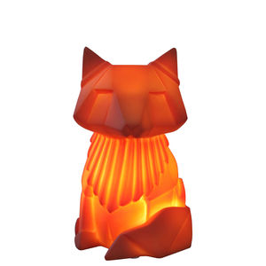 Orange Origami Fox Night Light - lighting