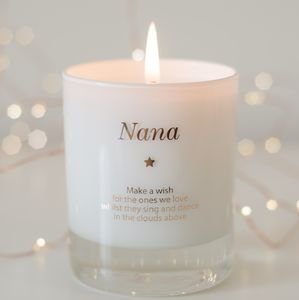 Personalised Remember An Angel Candle - mother's day gifts