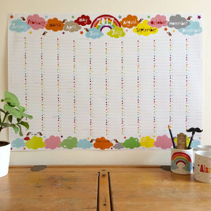 2017 Large Rainbow Wall Planner Calendar