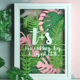 Personalised Tropical Leaf Multi Layered Papercut - prints & art