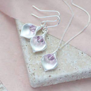 Calla Lily Birthstone Jewellery Set - jewellery sets
