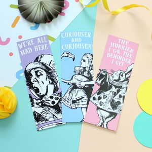 Alice In Wonderland Bookmark Set
