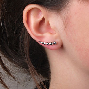 Bead Ear Climbers - earrings