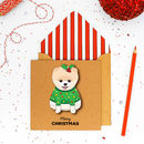 Christmas Personalised Handmade Pomeranian Card Or Pack