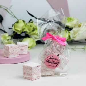 Prosecco And Strawberry Marshmallow Wedding Favours - chocolates & confectionery