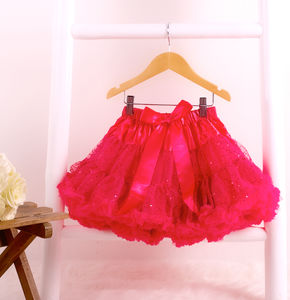 Hot Pink Shimmer Pettiskirt - fancy dress
