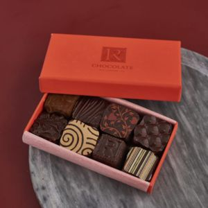 Chocolate Ganache Selection Box Of Eight - chocolates