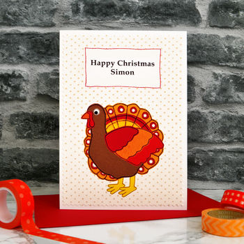 'Christmas Turkey' Personalised Christmas Card