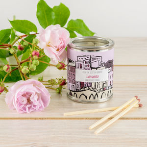 Levanto Jasmine And Rose Candle Tin