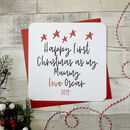 Happy First Christmas As My Mummy Personalised Card