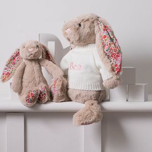 Personalised Blossom Beige Bunny Soft Toy - personalised gifts