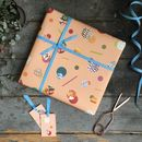 Abstract Spot Gift Wrapping Set