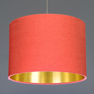 Linen Lampshade With Choice Of Metallic Lining - lighting