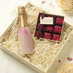 Chocolate Prosecco And Hearts - novelty chocolates