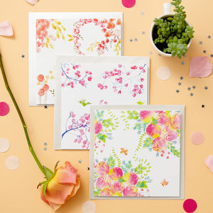 Cherry Blossom Blank Card