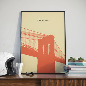 Brooklyn Bridge, Print. Poster