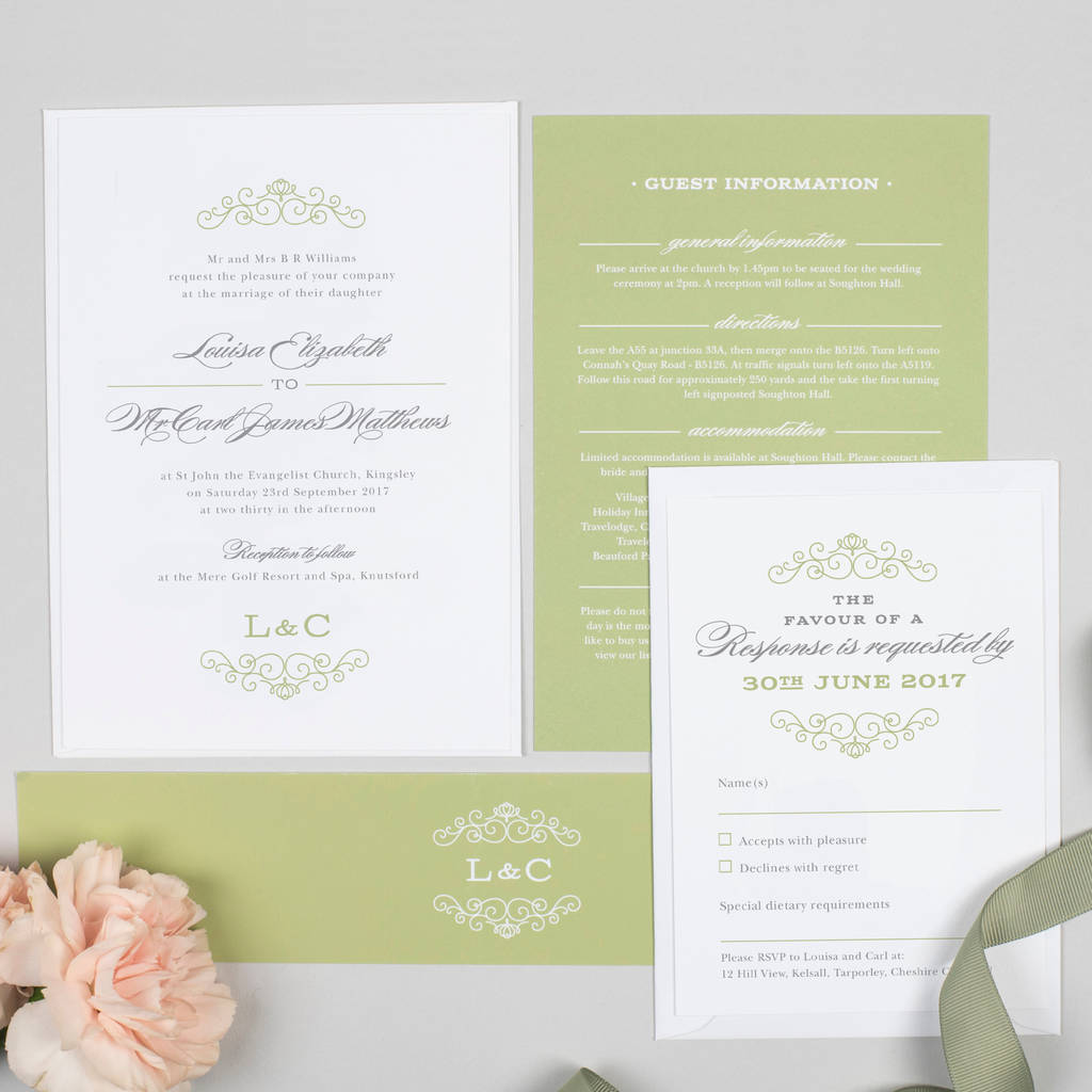 Traditional Monogram Eva Wedding Invitation By Project
