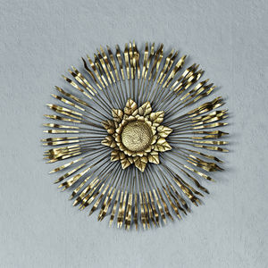 Metallic Wall Flower - decorative accessories