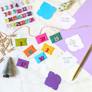 Colour Pop Mini Envelope Advent Calendar Kit - advent calendars