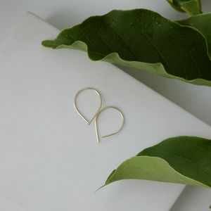 Delicate Gold Wire Earrings - view all new