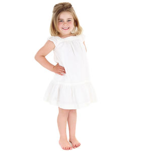 Girls French Designer Petal Sleeve Lace Dress - wedding and party outfits