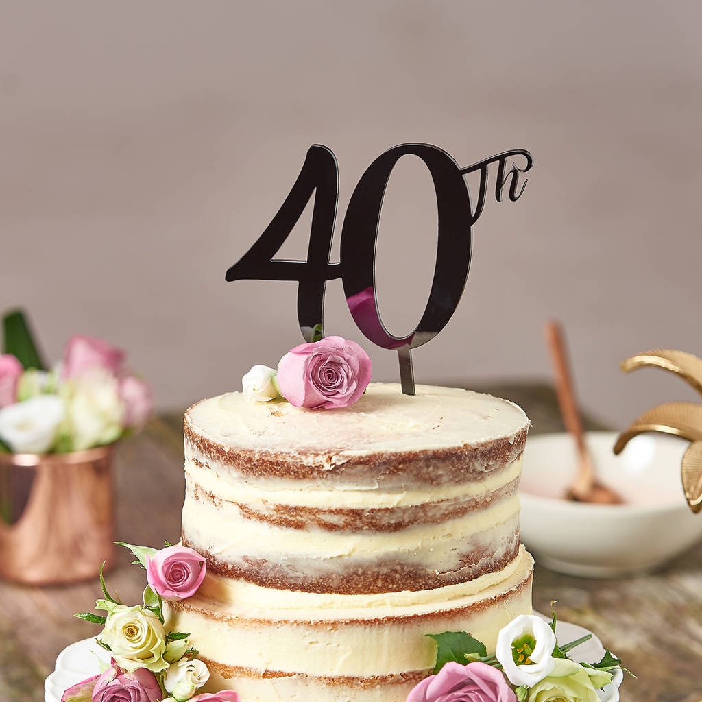 40th birthday cake topper by suzy q designs notonthehighstreetcom