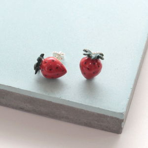 Strawberry Earrings - earrings